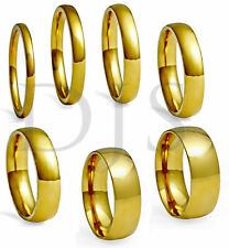 Men & Women, Size 4 to 14.5 High Polished 18k Gold Plated Ring Wedding Band,