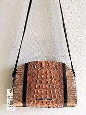 ❤️ BRAHMIN ABBY CROSSBODY TOASTED ALMOND BENGAL EMBOSSED LEATHER SHOULDERBAG NWT