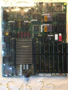 Vintage 386 Micronics Motherboard Intel 386DX-33 & 82385 Cache Chip AT Full Size