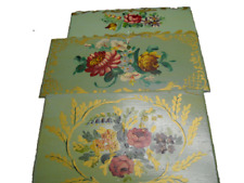 3 hand painted wooden boxes
