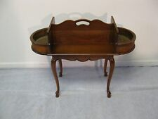 Imperial Table Company Cherry Plant Stand With Brass Inserts