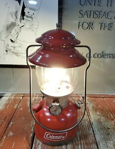 VINTAGE COLEMAN 200A SINGLE MANTLE DATED 8/79 CAMPING LANTERN LIGHT WORKS GREAT