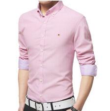 Mens Casual Button Down Shirts Slim Fit Shirt Top Long Sleeve M L XL XXL PS13