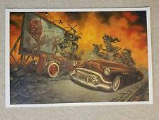 Drag Race Buick Hot rod P'gosh Art Print zombilly rat zombie