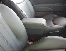 BRACCIOLO PREMIUM per Fiat 500+portaoggetti+scorrevole IN SIMILPELLE COLORE NERO