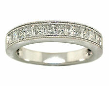 1ct Ladies Princess Diamond Wedding Band 14k White Gold