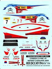 Colorado Decals 1/43 CITROEN C4 WRC #7 NOVIKOV CATALUNYA 2009