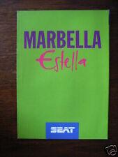 Seat Marbella Estella Sondermodell, Prospekt / Brochure