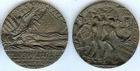Médaille de table - RMS LUSITANIA 5 may 1915 Karl GOETZ propagande anti Allemand