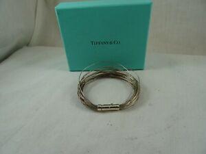 "Tiffany & Co Germany Multi Strand Wire 925 Sterling Silver Bracelet 6 3/4"" RARE"