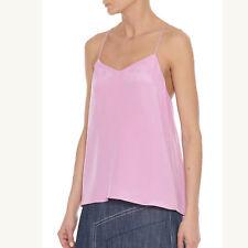 TIBI | Pink Silk Camisole Top w/ Racerback – Size 6