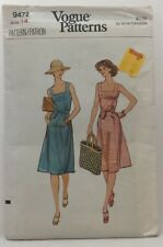 Vintage 1970s Vogue Sewing Pattern #9472 Ladies Sundress Size 14 36 Bust 3410