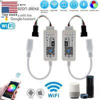 Mini Wifi Controller WS2811 WS2812B RGB LED Strip Light For Amazon Alexa/Google