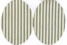 IRON-ON PATCHES - STRIPE PATT - OVAL  SHAPED - COTTON