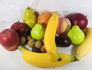 Vintage Artificial Faux Fruit Realistic Plastic Set of 13 (1U)