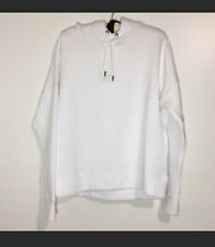 Womens Hooded Sweatshirt White Quilted Size XL Spalding Activewear