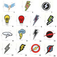 Lightning Bolt Patch for Clothing Boys Embroidered Patch Clothes Badges DIY yz