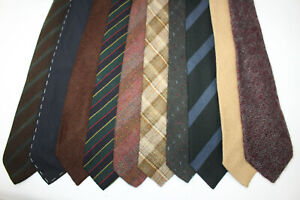 LOT OF 10 WOOL TIES INCLUDED MADE IN UK AND DESIGNER. F16478