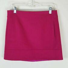 J. Crew Factory Double Serge Mini Skirt Size 4 Wool  Blend Dark Pink Above Knee