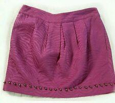 VGUC LUCIANO BARBERA Beaded Purple Silk Blend MINI SKIRT       ANB