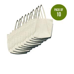 Bag Tote Shopping Cotton Canvas Shoulder Bags Heavy Duty Reusable Large Plain 10