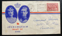 1937 Vancouver Canada King George VI Coronation FDC First Day Cover Local