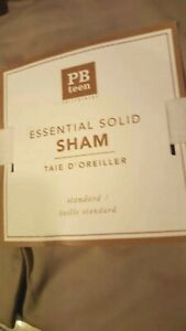 New Pottery Barn Teen KHAKI Essential Solid Standard SHAM  Brown