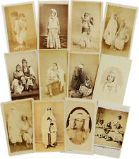 1859 ALGERIA - Albumen ETHNIC CDV Photographs - RARE CARTE-DE-VISITE  Arab Women
