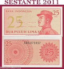INDONESIA -  25 SEN 1964 REPLACEMENT   Prefix  X    - P 93 - FDS / UNC