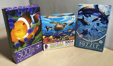 X3 Puzzles 300/100/500 Pieces, Clown Fish, Sea Turtles, Underwater Sanctuary