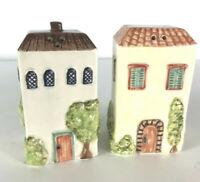 American Atelier Tuscany Village Villa Salt & Pepper Shakers Set Italian Decor