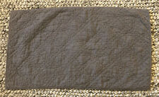 STONEWASHED BELGIAN LINEN DIAMOND-STITCH SHAM Graphite NWOT