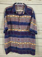 The Territory Ahead Button Up Shirt ~ Aztec ~ Short Sleeve ~ Men's 2XL