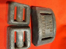 3 Lead Dive Weights, 19 3/4 pounds, Lace Through Uncoated Lead Alloy