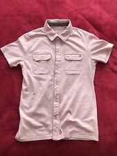 Guess Short Sleeve Button-up Polo Shirt Pink Men's XSmall Gay Interest