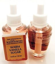 2 BATH & BODY WORKS WALLFLOWERS WARM VANILLA SUGAR FRAGRANCE PLUGIN REFILL NEW!