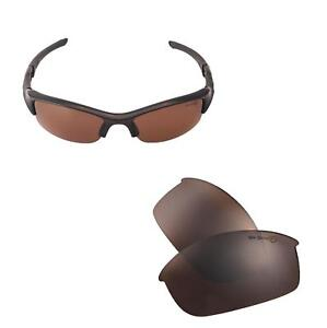 New Walleva Mr.Shield Polarized Brown Replacement Lenses For Oakley Flak Jacket
