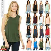 Bella + Canvas Women's Flowy Scoop Muscle Tank Top Shirt B8803 Sleeveless Vest
