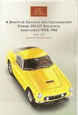 CMC LAUNCH INFORMATION SHEET - 1:18 SCALE - FERRARI 250 GT BERLINETTA - RARE