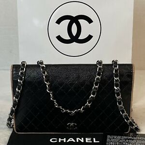 AUTHENTIC CHANEL CC Black Leather Calfskin Quilted Long Wallet~p🇺🇸US SELLER