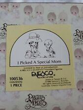 """1986 PRECIOUS MEMORIES 100536 """"I PICKED A SPECIAL MOM"""" w/Box and Tags"""