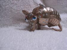 Texas Armadillo Glass Ornament - Nine-Banded Armadillo Nature Small Mammal