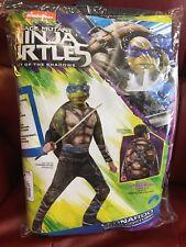 NEW Teenage Mutant Ninja Turtle Child Leonardo Costume w/ Stuffable Shell Large