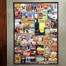 COMPLETE Eurographics Travel Around The World Vintage Posters 1000 Pc Puzzle
