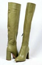 Zara Womens High Leg Leather Heeled Boots Size 6