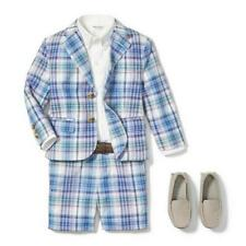 New! Janie and Jack Toddler Boy 2pc Plaid Blazer Shorts Suit Set-Summer- 3T