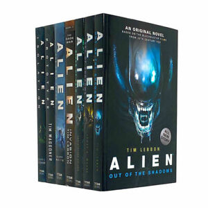 Alien 7 Books Set Collection by Tim Lebbon, Out Of The Shadows, Sea Of Sorrows