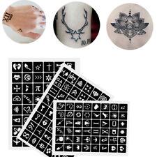 114Pcs Glitter Henna Tattoo Stencils Temporary Body Art Airbrush Painting Kit