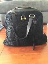 YSL Yves Saint Laurent Black Pony Hair Muse Shoulder Bag Medium Authentic
