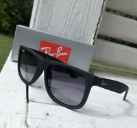 RAY BAN RB4165 622 T3 Black Rubber Polarized Grey Gradient 54mm Men's Sunglasses